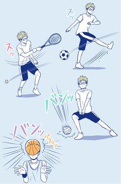 Hagita playing different sports [x]