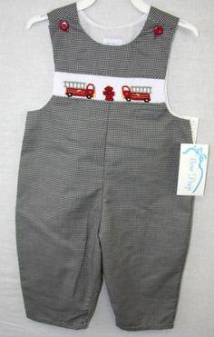 412223 Baby Jon Jon Baby Boy Clothes  Firetruck by ZuliKids
