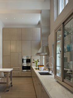 Küche Schranksystem Elegant Design Naturfarben Einbaugeräte
