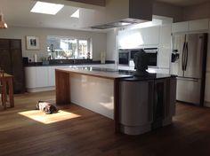 Industrial Contemporary kitchen design in Wigan