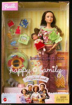 Barbie The Neighbors Mom & Baby Happy Family Neighborhood Doll 2004 for sale online Midge Barbie Doll, Bolo Barbie, Doll Clothes Barbie, Barbie Doll House, Barbie Toys, Barbie Funny, Baby Doll Set, Baby Doll Nursery, Happy Birthday African American