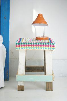 wood & wool stool emmanuelle