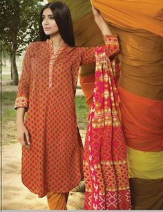 Khaadi Multi Pakistani Cotton Lawn Suit With  Dupatta A15560A
