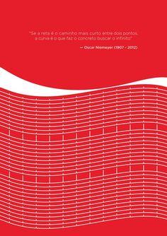 A homenagem da Coca Cola para Oscar Niemeyer