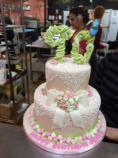 Babushka Jenya's 90th birthday cake by Fancy Cakes by Leslie