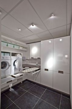 Practical Home laundry room design ideas 2018 Laundry room decor Small laundry room ideas Laundry room makeover Laundry room cabinets Laundry room shelves Laundry closet ideas Pedestals Stairs Shape Renters Boiler Room Makeover, Room Design, Laundry Mud Room, Basement Laundry Room, Home, Laundry Room Design, House Interior, Laundy Room, White Rooms