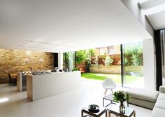 Two terraced houses combined to create a single London residence