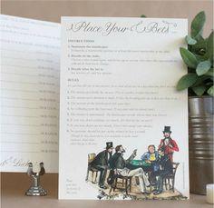 Pack Of 10 Wedding Speech Betting Cards - diy wedding stationery Wedding Favor Table, Unique Wedding Invitations, Wedding Stationery, Wedding Favors, Wedding Reception, Our Wedding, Wedding Ideas, Dream Wedding, Wedding Centrepieces