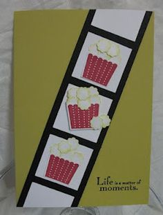 Popcorn Card & link to more punch art with Cupcake punch. Thanks Julia!