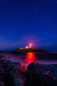 Night At Nubble Light  Cape Neddick, Maine