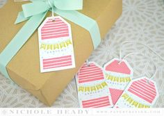 Merry & Bright Tag Collection by Nichole Heady for Papertrey Ink (September 2015)
