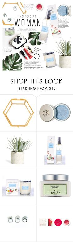 """""""Independet woman"""" by punnky ❤ liked on Polyvore featuring beauty, Cathy's Concepts, Allstate Floral, Haute Hippie, Laura Mercier and Korres"""