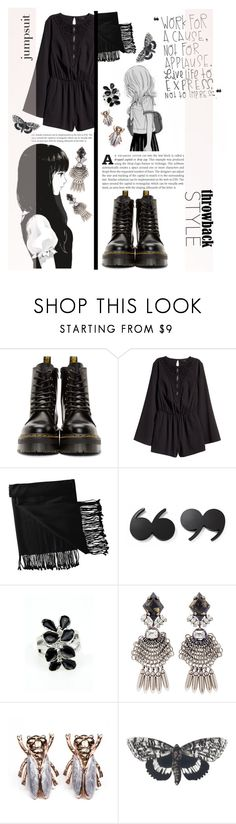 """""""~ Throwback style ~"""" by dolly-valkyrie ❤ liked on Polyvore featuring Dr. Martens, H&M, New Directions, Kate Spade, DANNIJO, Bena and throwbackstyle"""