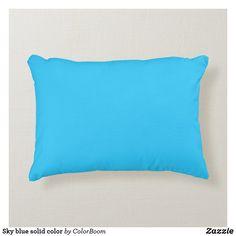 Sky blue solid color accent pillow Blue Cushions, Blue Throw Pillows, Soft Pillows, Accent Pillows, Decorative Throw Pillows, Turquoise Accents, Blue Accents, Blue Living Room Decor, My New Room