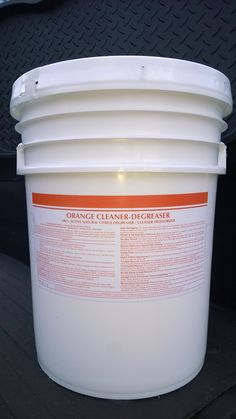 5 GAL PAIL ORANGE CLEANER/DEGREASER 100% D-LIMONENE ~ Liquid ~ Affordable ~ Citrus Surfactant ~ Minimal Effort ~ Heavy Duty ~ EPA Approved ~ High Solvency Action ~ Safe on Metal & Painted Surfaces ~ Pleasant Citrus Scent ~ Rinses Clean ~ Emulsifies even the most built-up grease, oil, & dirt. Use on wall tiles, porcelain, floors, tubs, showers, sinks, etc. Call 888-896-4827. Visit patriotchemicalcompany.com.