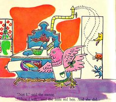 Andy Warhol Little Red Hen illustrations