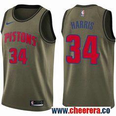 Men s Nike Detroit Pistons  34 Tobias Harris Green Salute to Service NBA  Swingman Jersey Jerian fb9bdc658