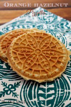 Orange Hazelnut Pizzelles: The Chef Next Door