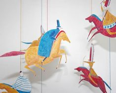 Mobiles - daniel frost  I love this for the grandkids' playroom