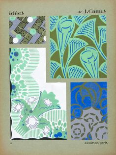 Art Deco fabric designs by French artist and designer Jacques Camus Art Deco Fabric, Fabric Design, Art Deco Bathroom, Bathroom Ideas, Art Deco Print, French Artists, Surface Design, Art Nouveau, Wonderland