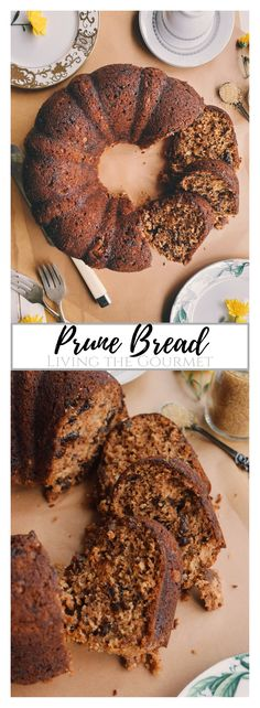 This Prune Bread has long been a favorite of mine. It is hearty and just sweet enough without being too heavy, making it perfect for breakfast with cream cheese and jam alongside a hot cup of coffee. It can also be served with a dollop of fresh whipped cream and enjoy in the evening for dessert. Whichever way you prefer, I know you will love it! Yeast Bread Recipes, Quick Bread Recipes, Easy Bread, Cookie Recipes, No Knead Bread, Dinner Rolls, Kitchen Recipes, Bread Baking, Whipped Cream