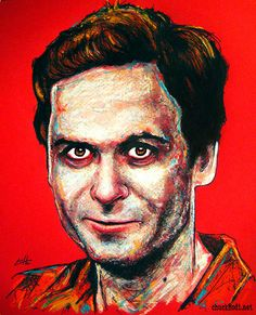 Ted Bundy - Original Drawing - Serial Killer Horror Dark Art Scary ...