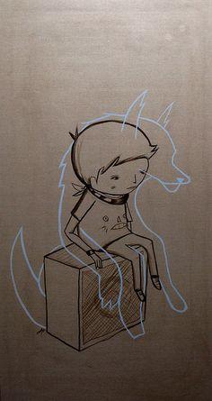 wolvien (light shard) 180cm x 100cm acrylic on linen part of a 4 part comission