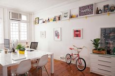 Office space inspiration. MARK is a graphic design studio based in Cape Town
