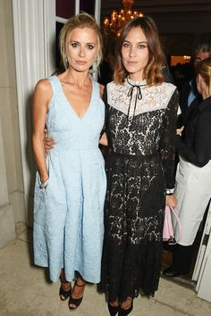 Step inside Vogue's London Fashion Week party... Laura Bailey and Alexa Chung