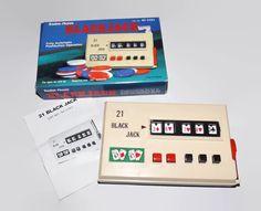 Vintage BlackJack Game, Fully Automatic Push Button Operation, Radio Shack, Unused, Original Box, Casino Game, Stocking Stuffer by JandDsAtticTreasures on Etsy