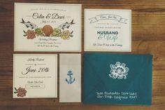 Beach Inspired Wedding Invitation