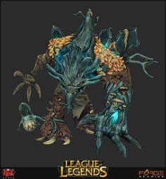 Hi guys,    we've been working with the guys at Riot on some skins for League of Legends and since a few have been released we decided to start this thread to share them with the community. We'll keep updating the thread when more will become available, so here we go:    Haunted Maokai