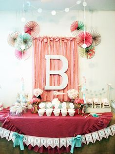 Vintage Chic 1st Girl Birthday Party Planning Ideas Decorations