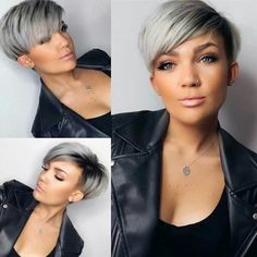 Pixie haircut is really appealing and perfect idea for ladies who want to change their looks completely. So today I will show you the latest pixie haircut. Short Pixie Haircuts, Pixie Hairstyles, Straight Hairstyles, Hairstyles 2018, Long Haircuts, Undercut Hairstyles, Gray Hairstyles, Short Undercut, Scene Hairstyles