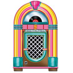 Try this cardstock Jukebox Cutout to give your 50's party the feel of a real soda shop or sock hop!