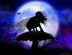 Image The Art of Liza Lambertini - Fairies wind - http://www.faeriewood.com/Pages/Sillhouettes_Page.html