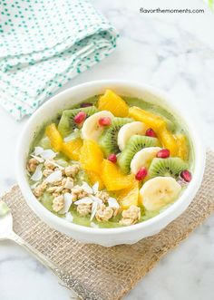 green-coconut-kiwi-banana-smoothie-bowl3   flavorthemoments.com