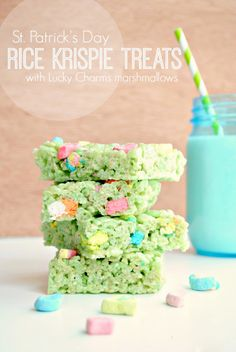 Rick Krispie Treats with Lucky Charms