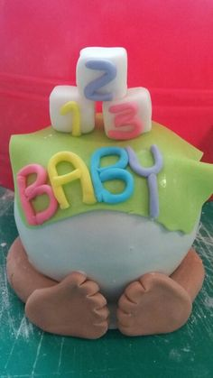Baby bottom candy apple cake topper. ..pastel colors