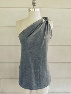 DIY Shoulder Tied T-Shirt- No Sew!