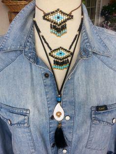 evi eye, handmade jewels, necklace, necklaces, boho, tassels, tassel, pearlybow Turquoise Necklace, Tassels, Handmade Jewelry, Necklaces, Jewels, Eye, Boho, Fashion, Moda
