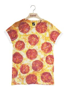 Batch1 Pepperoni Pizza All Over Fashion Print Novelty Fast Food Unisex T-Shirt
