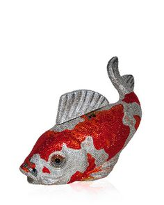 Koi Fish Crystal Minaudiere, Orange/Silver by Judith Leiber Couture at Neiman Marcus.