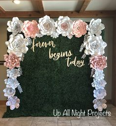 Heres a close up picture of the beautiful paper flower backdrop i paper flower backdrop or wall decor giant paper flowers wedding backdrop party flowers mightylinksfo