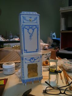 Architecture of Tiny Distinction: Important Addition to a Little Swedish Room  Delightful handmade miniature toy  kakelugn