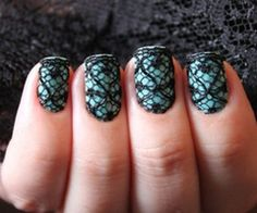 Egg blue with black lace#Repin By:Pinterest++ for iPad#