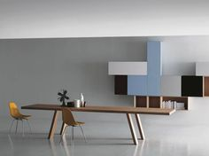 contemporary wall-mounted lacquered sideboard MODERN by Piero Lissoni Porro Contemporary Furniture, Contemporary Design, Living Room Wall Units, Design Tisch, Interior Architecture, Interior Design, Modern Sideboard, Designer, Furniture Design