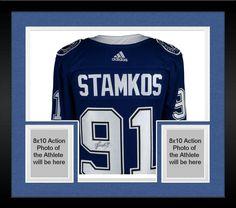 862298c8e Framed Steven Stamkos Tampa Bay Lightning Signed Blue Adidas Authentic  Jersey Blue Adidas, Steven Stamkos