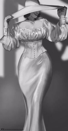 Scary Movie Characters, Resident Evil Girl, Monster Girl Encyclopedia, Comic Art Girls, Evil Art, Tall Women, Lady, Character Design, Celebrities