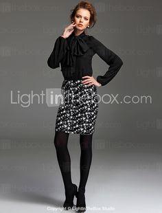 TS Star Print Knitted Skirt